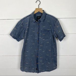 GLOBE Short Sleeve Button Down Size M